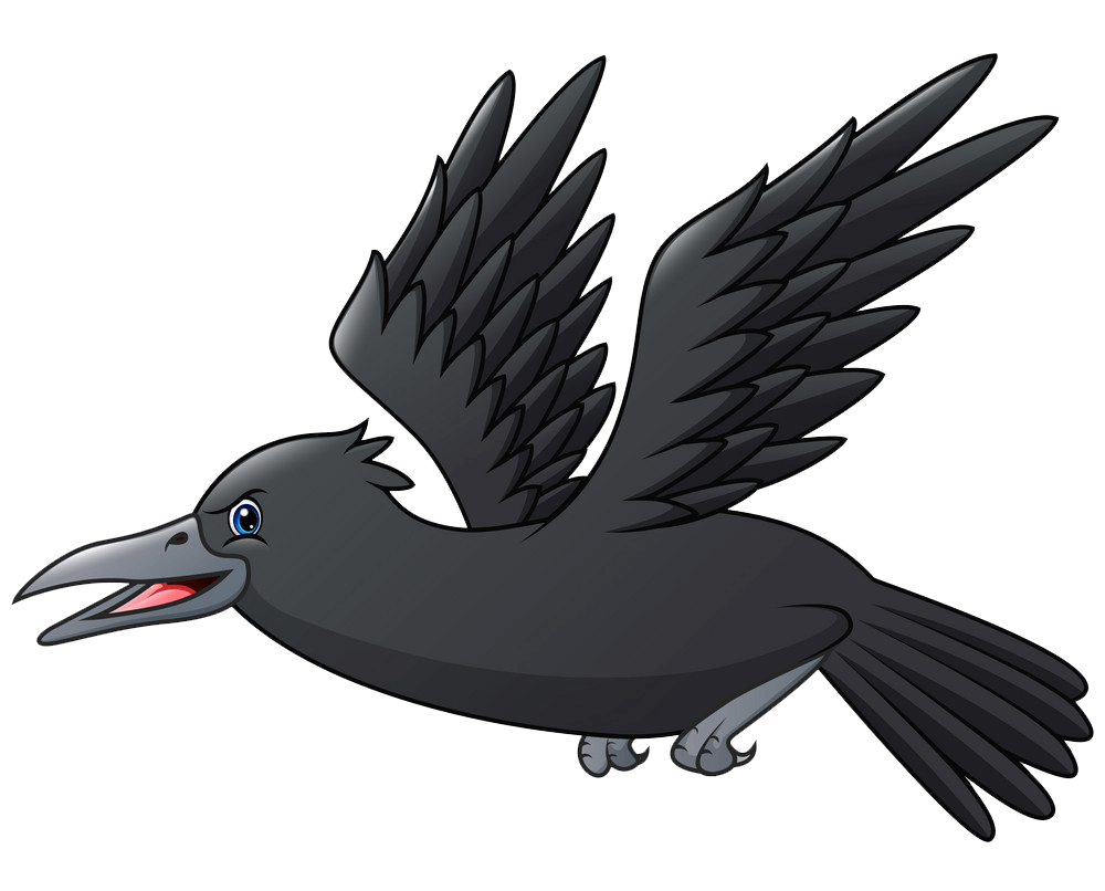 Flying Crow clipart transparent