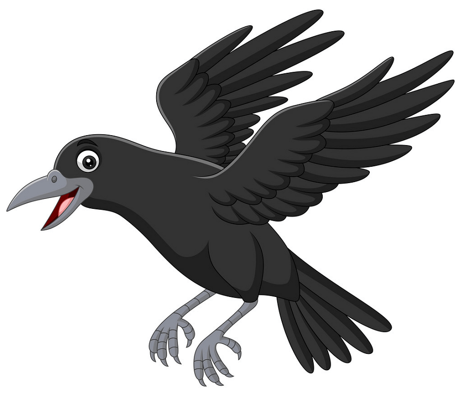 Flying Crow clipart
