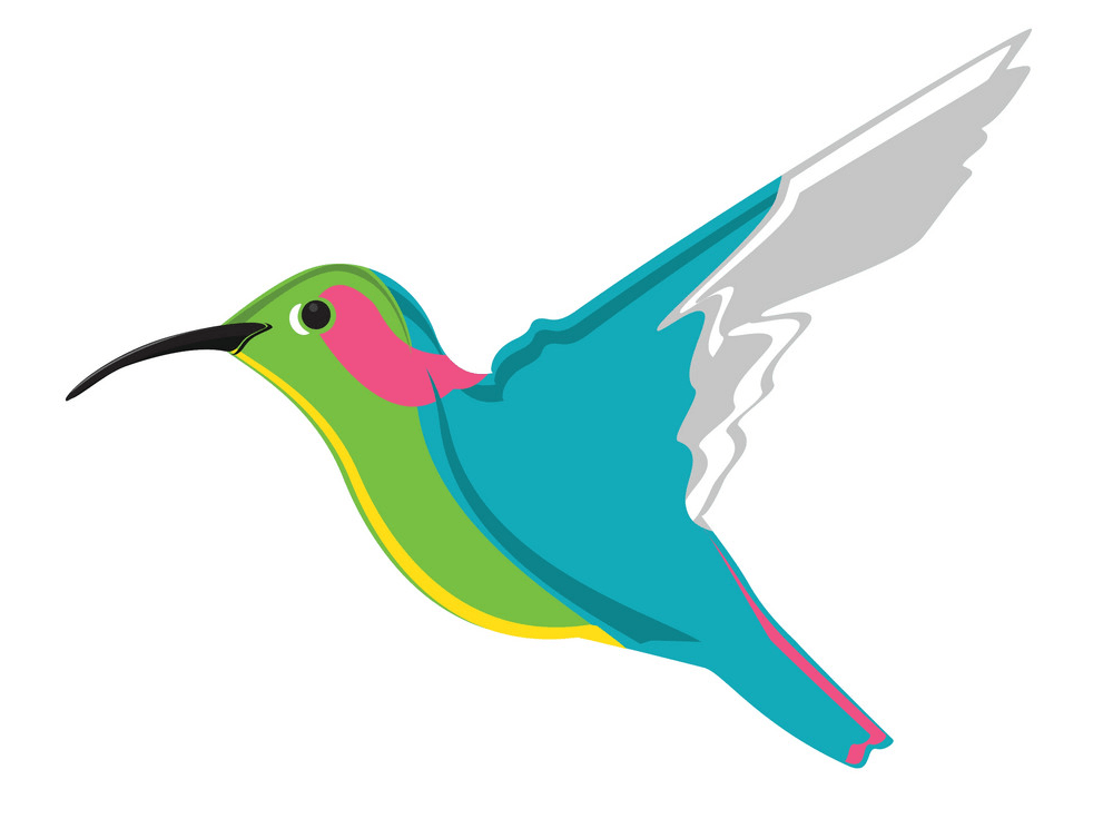 Flying Hummingbird clipart