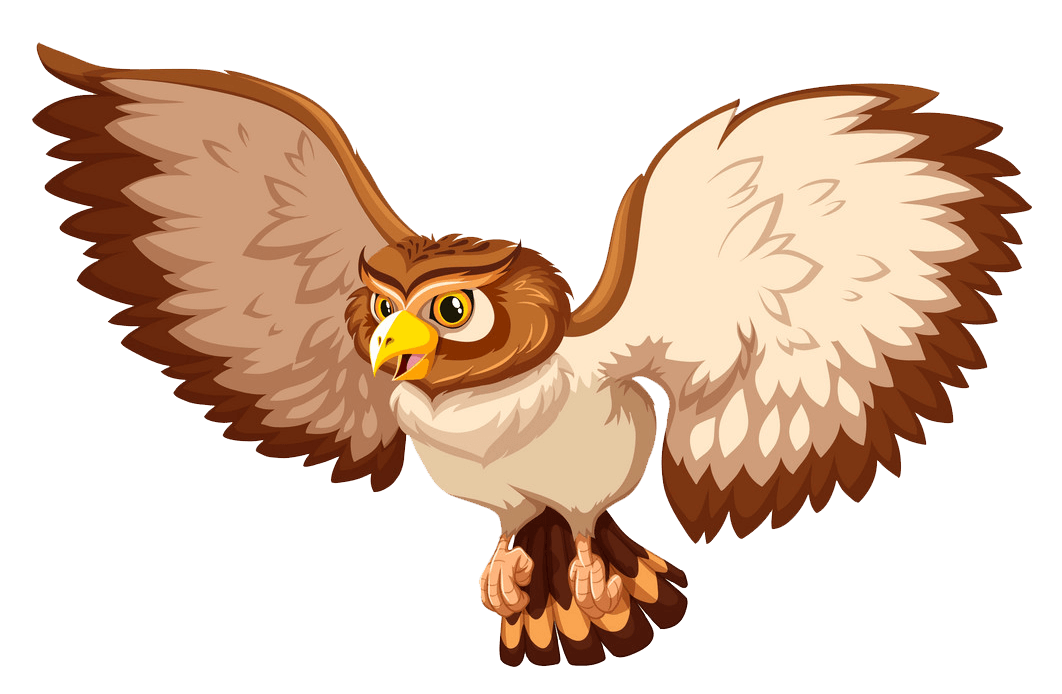 Flying Owl clipart transparent