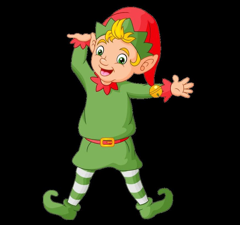 Funny Christmas Elf clipart transparent