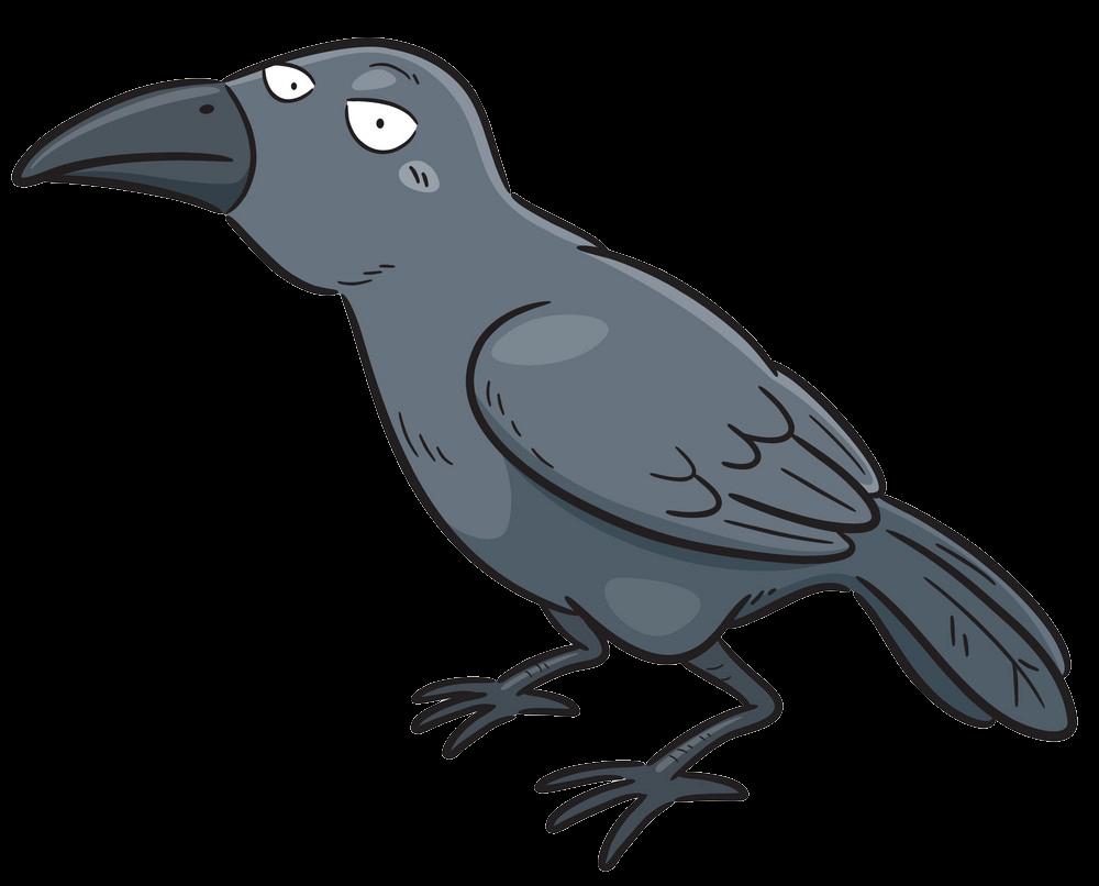 Funny Crow clipart transparent