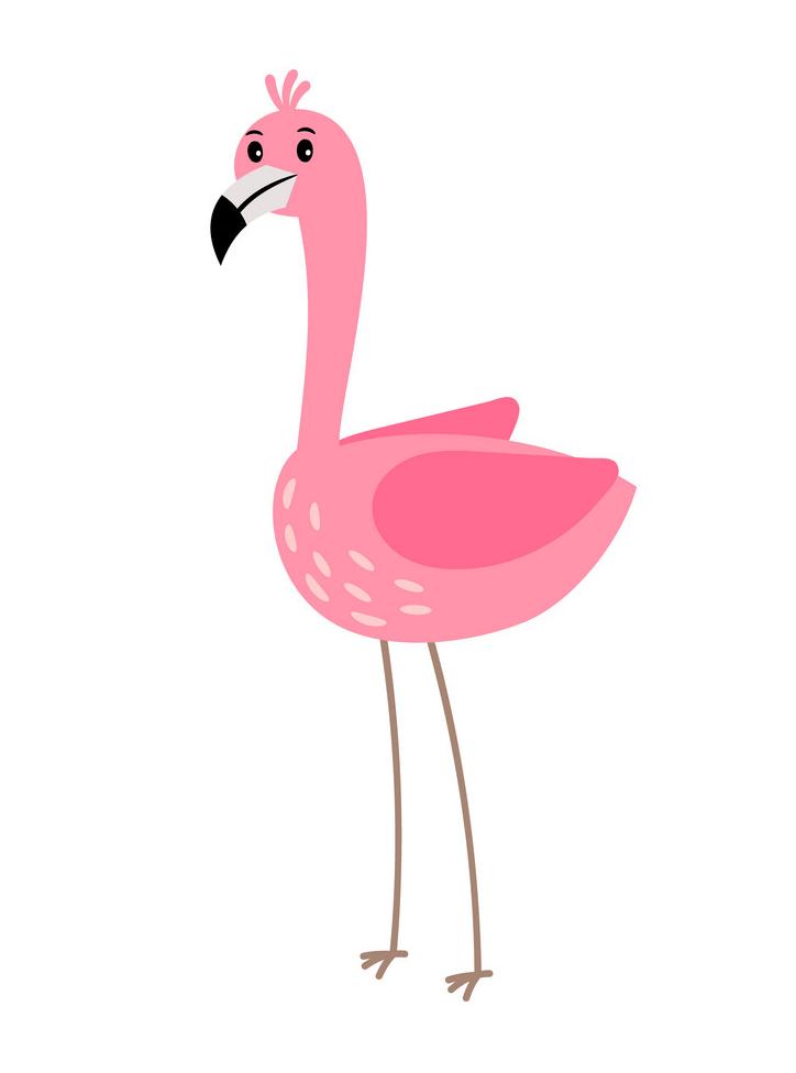 Funny Flamingo clipart