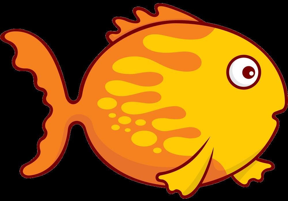 Funny Goldfish clipart transparent 1