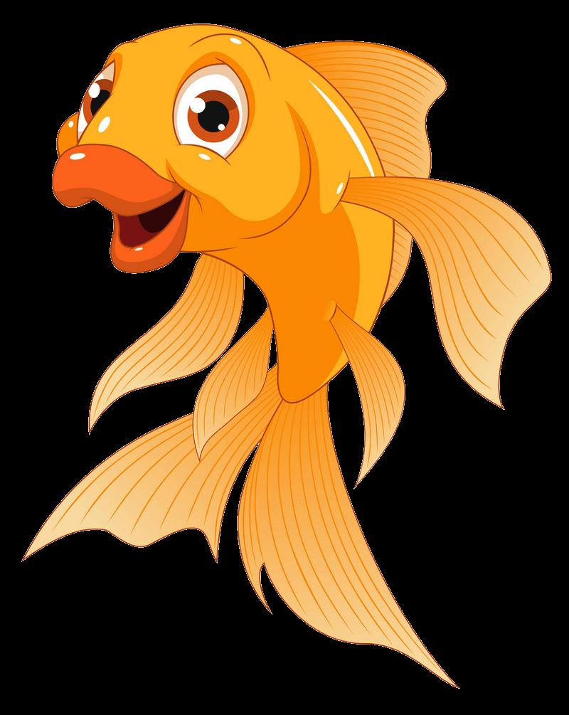 Funny Goldfish clipart transparent
