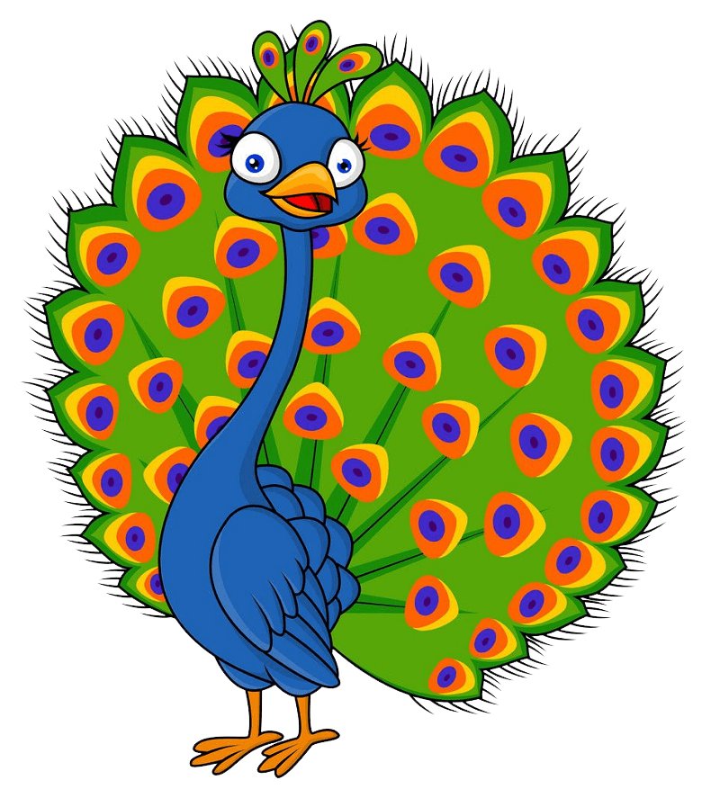 Funny Peacock clipart transparent