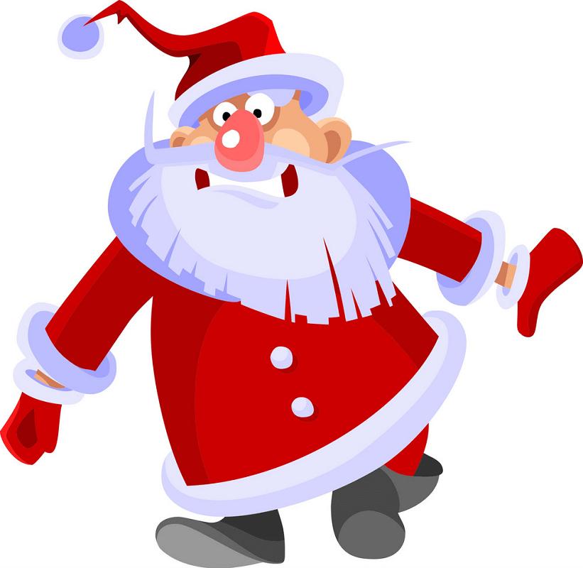Funny Santa Claus clipart 1