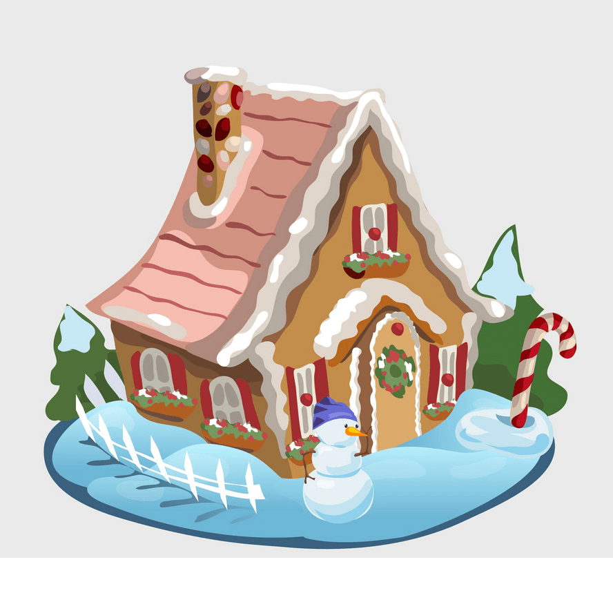 Gingerbread House clipart 1