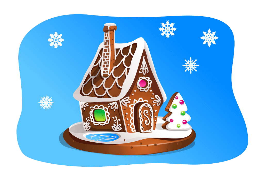 Gingerbread House clipart transparent