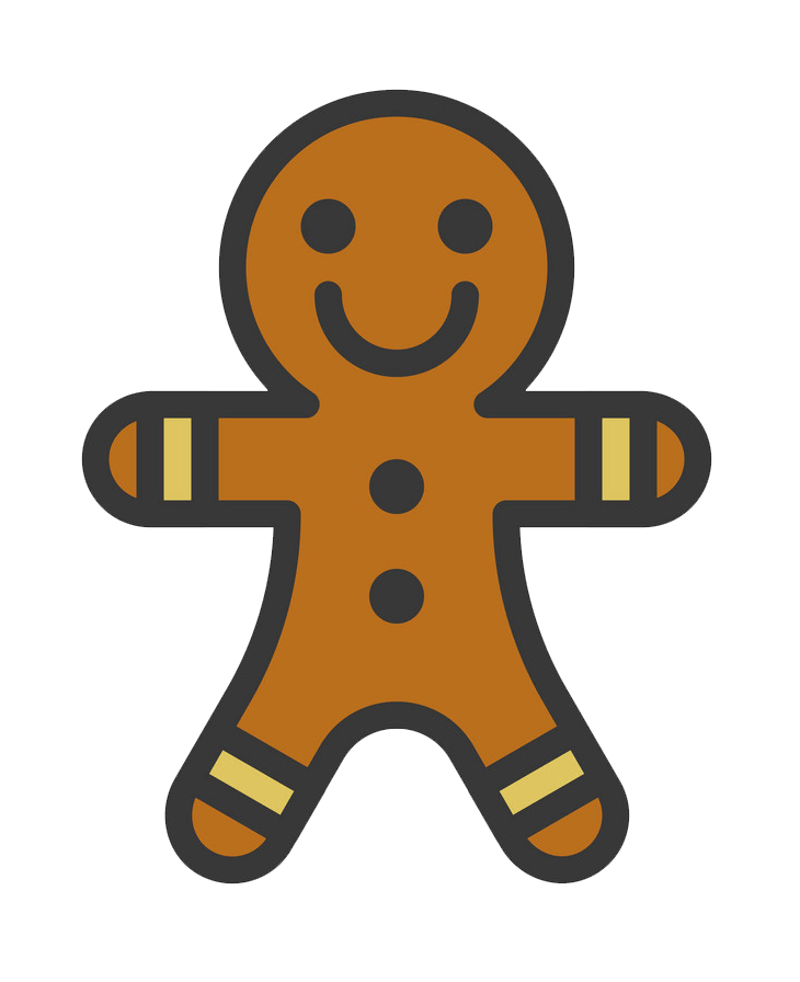Gingerbread Man Icon clipart transparent