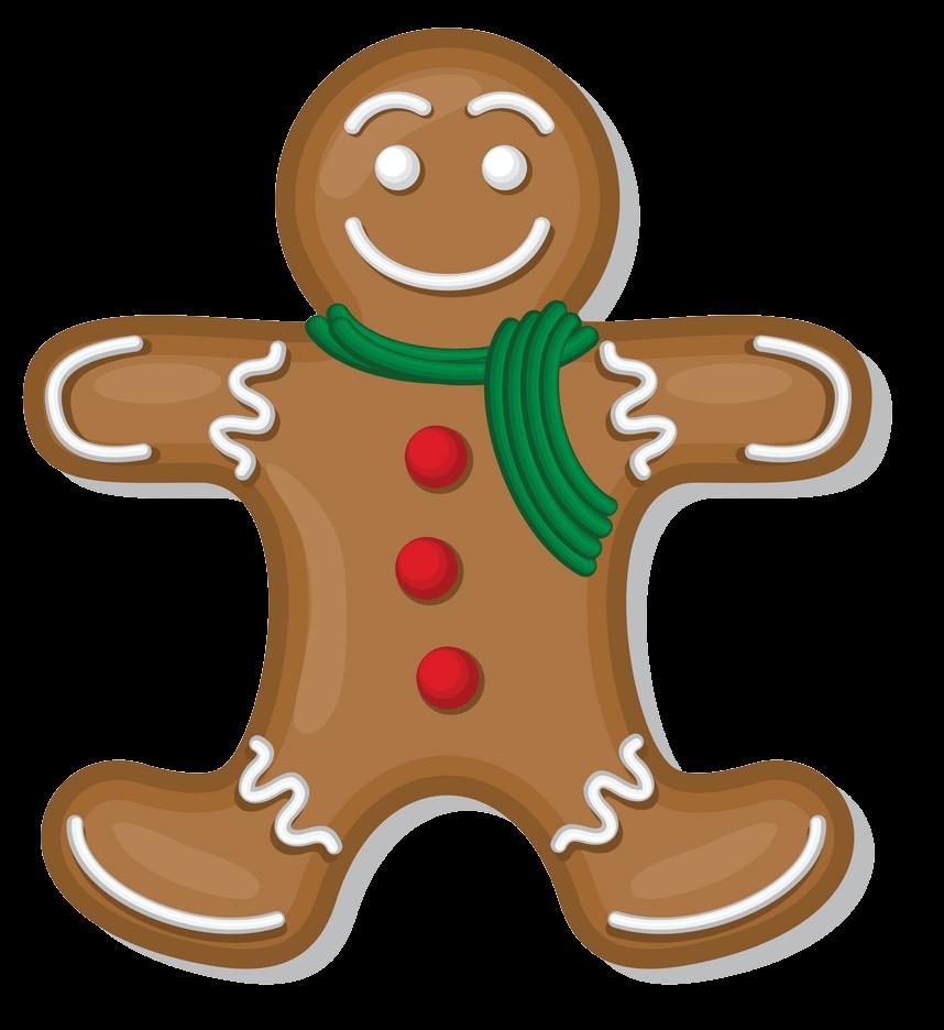 Gingerbread Man clipart transparent