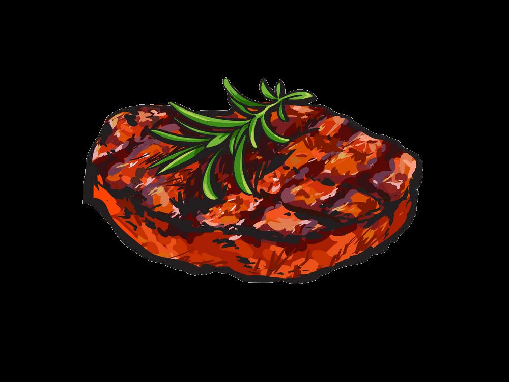 Grilled Beef Steak clipart transparent