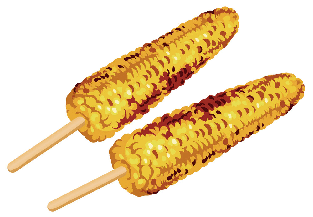 Grilled Corn clipart 1