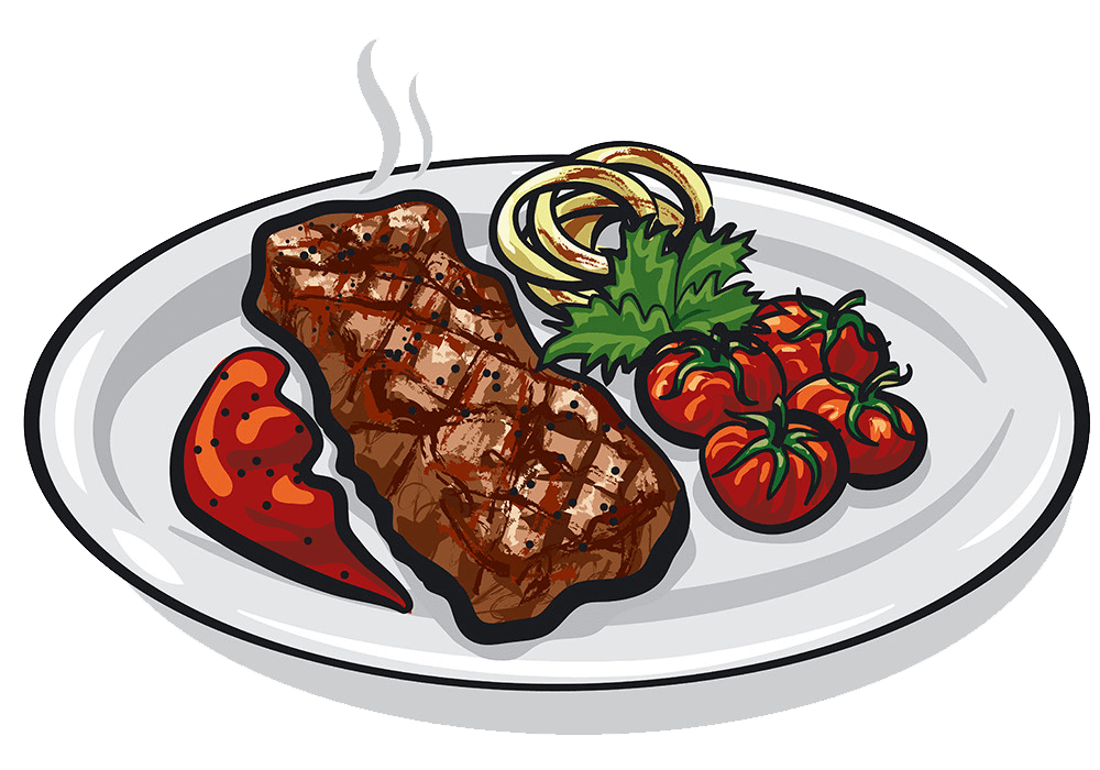 Grilled Roasted steak clipart transparent
