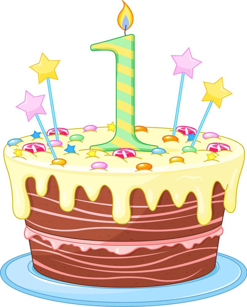 Happy Birthday Cake clipart 1