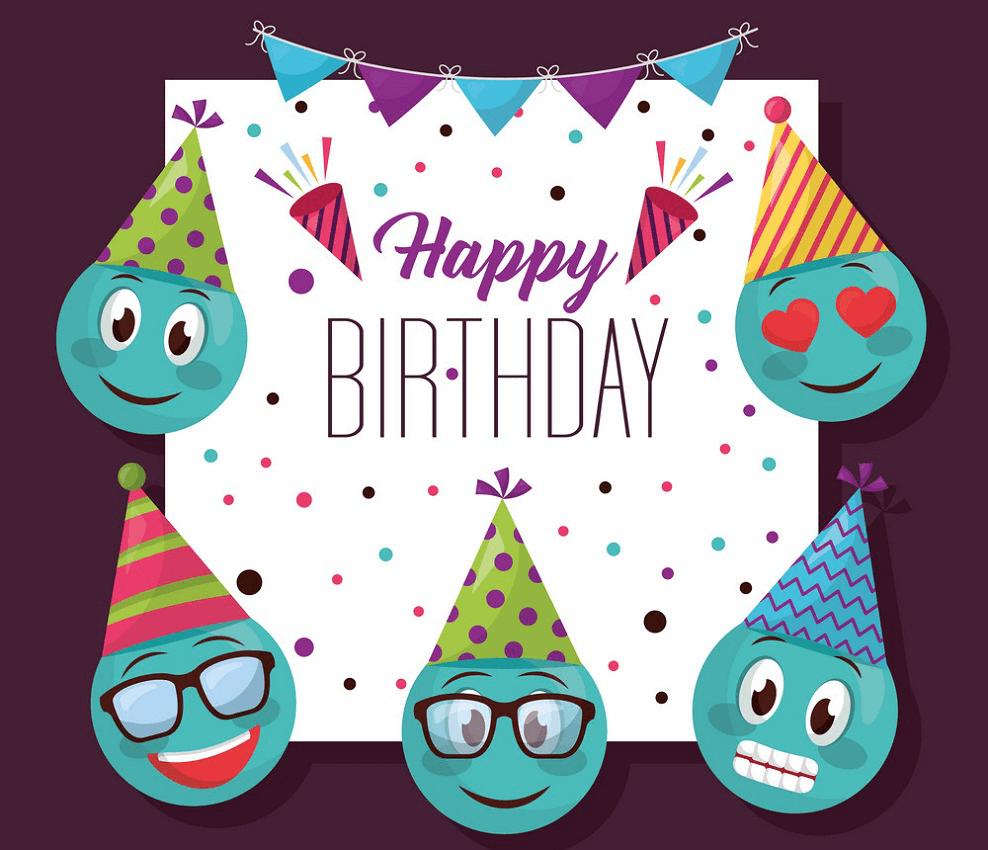 Happy Birthday Card clipart