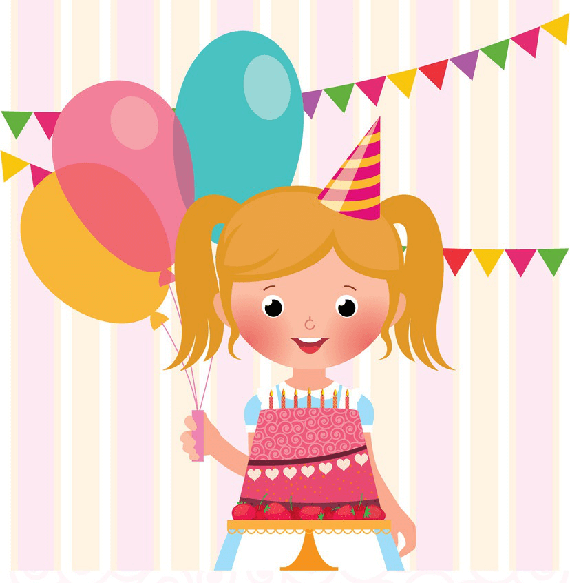Happy Birthday Little Girl clipart