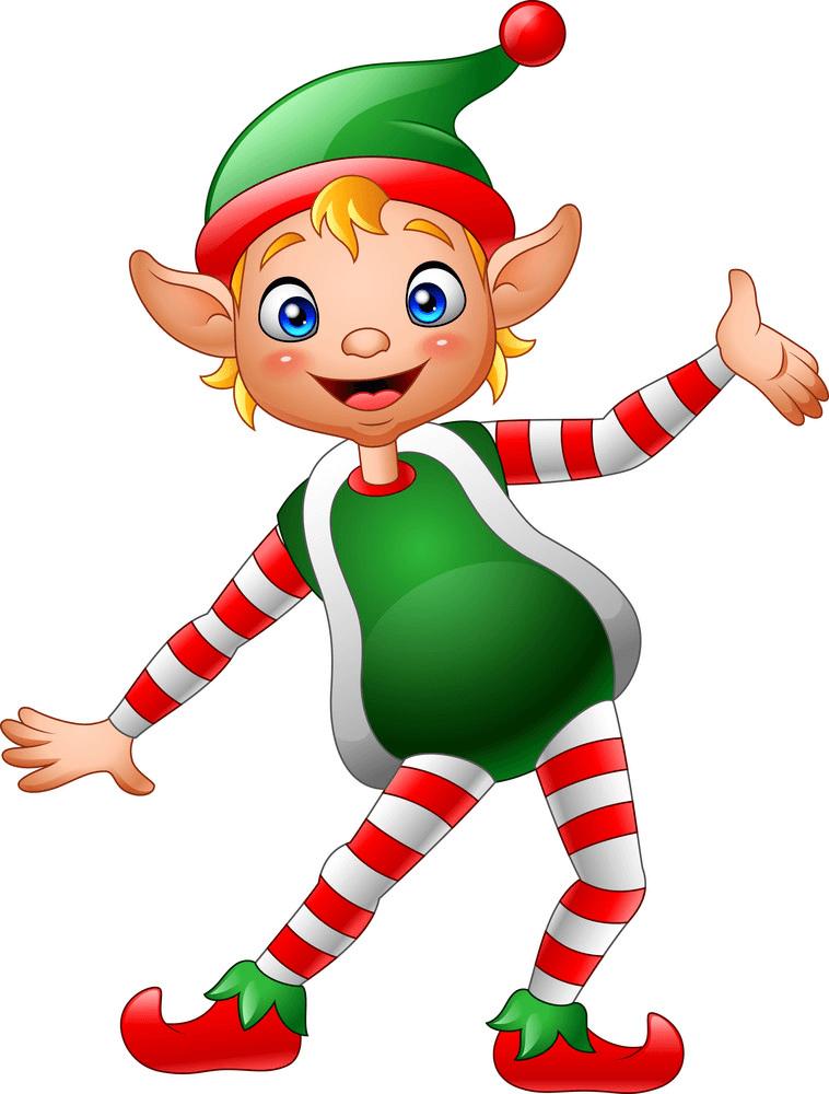 Happy Christmas Elf clipart