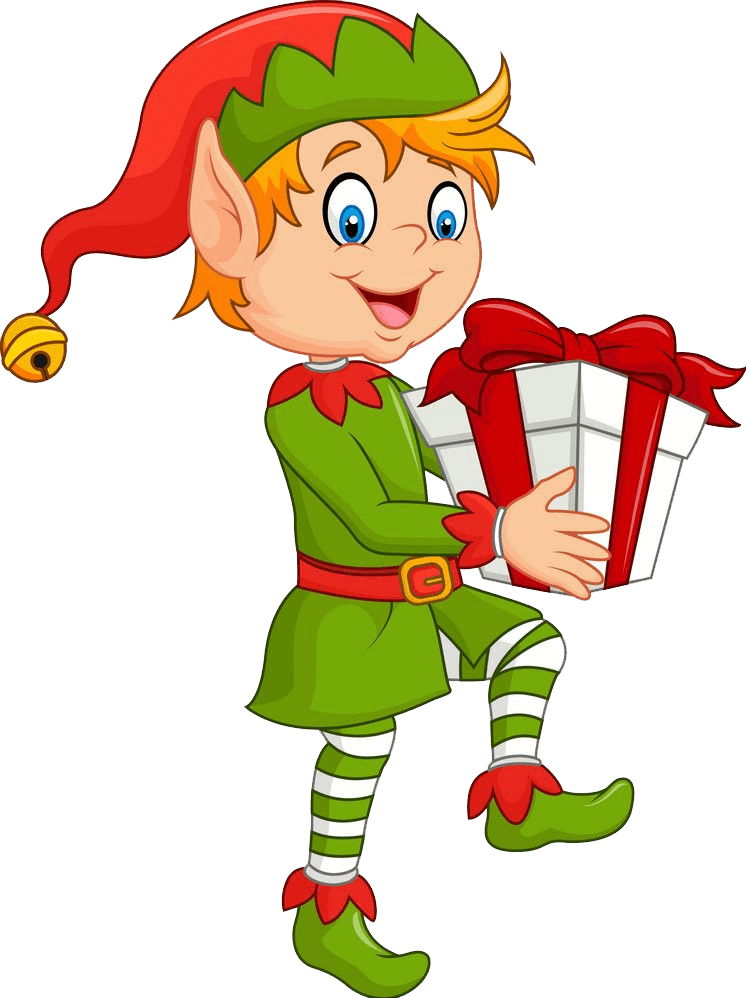 Happy Christmas Elf transparent