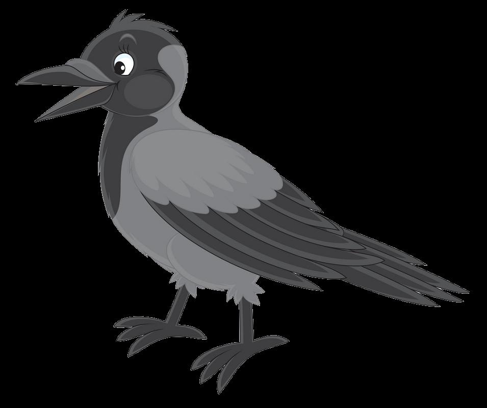 Happy Crow clipart transparent