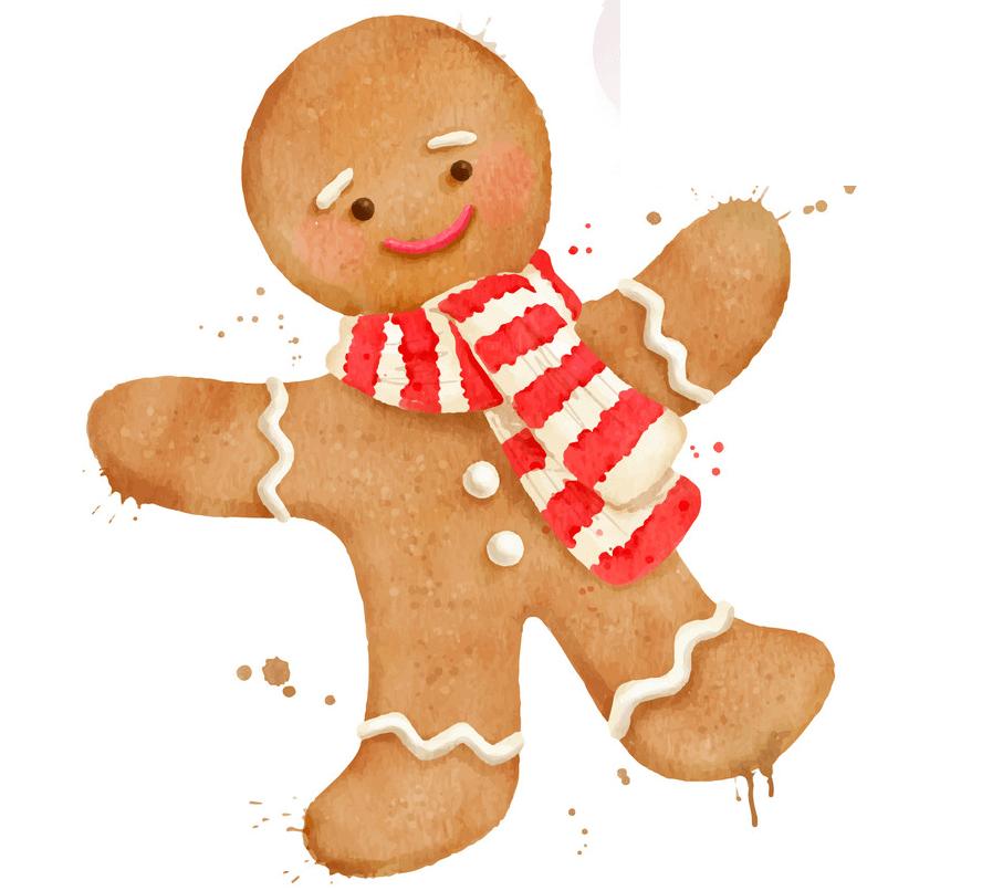 Happy Gingerbread Man clipart 1