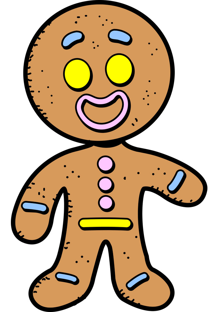 Happy Gingerbread Man clipart