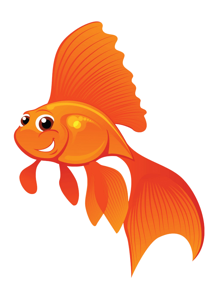 Happy Goldfish clipart transparent