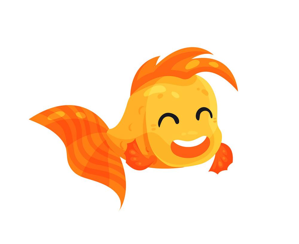 Happy Goldfish clipart