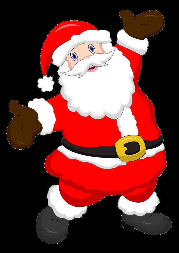 Happy Santa Claus clipart transparent