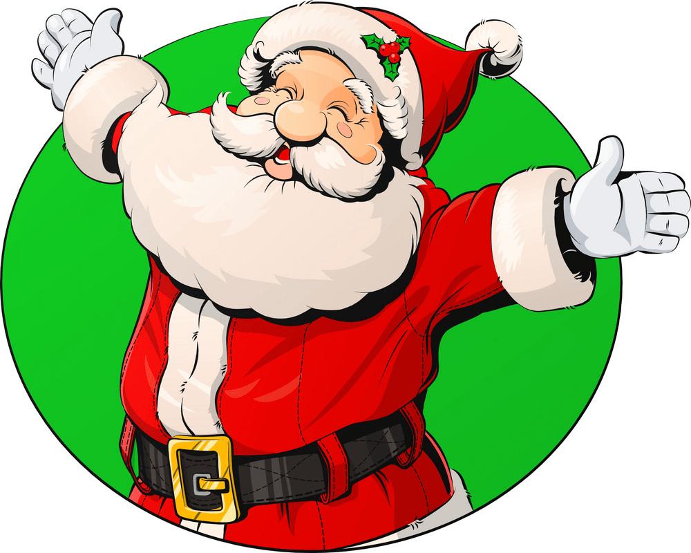 Happy Santa Claus clipart