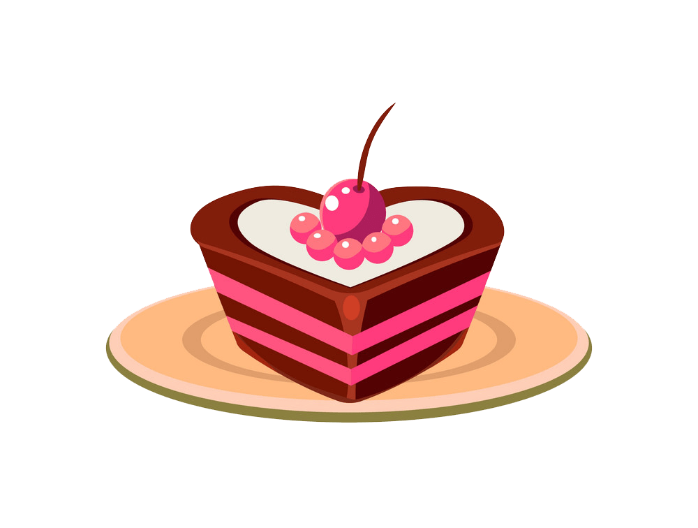 Heart Shaped Cake clipart transparent
