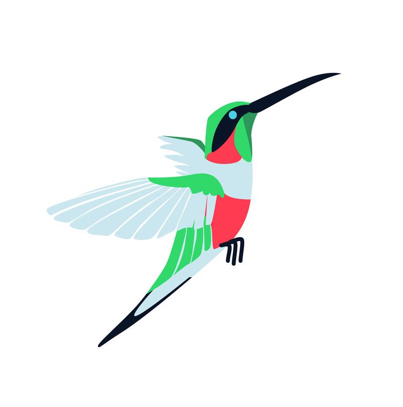 Hummingbird clipart 3