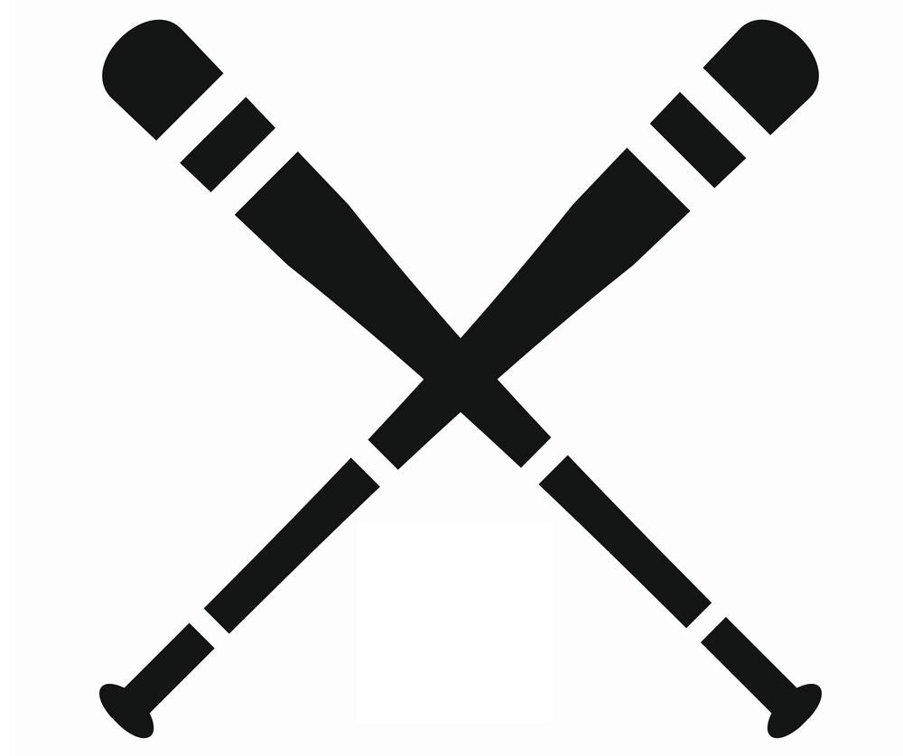 Icon Baseball bats clipart 1