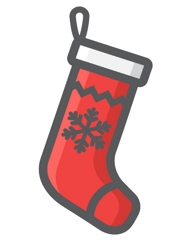Icon Christmas Stocking clipart transparent