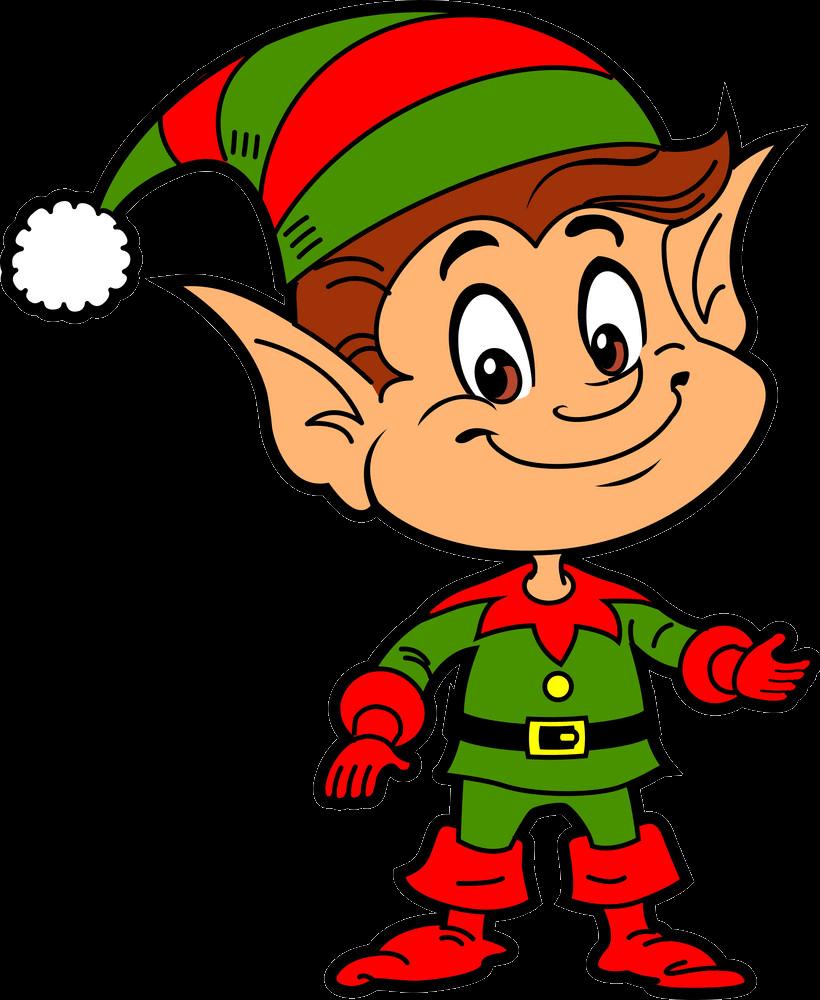 Little Christmas Elf clipart transparent