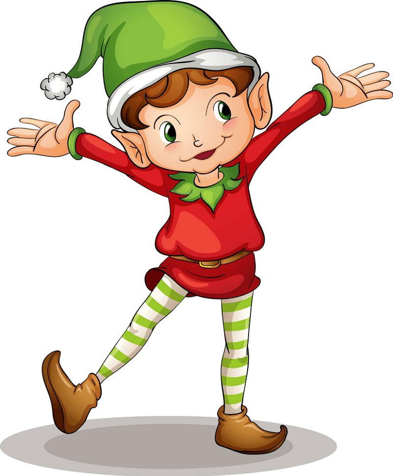 Little Christmas Elf clipart