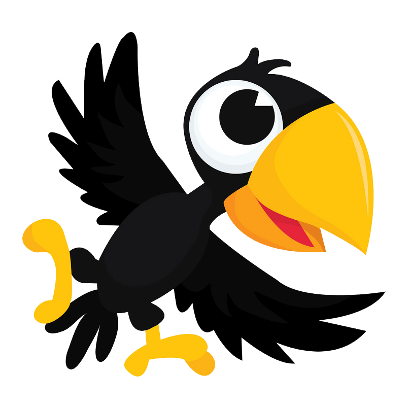 Little Crow clipart transparent