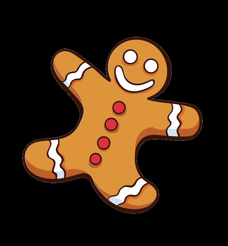 Little Gingerbread Man clipart transparent