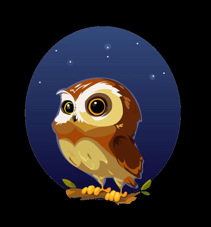Little Owl clipart transparent