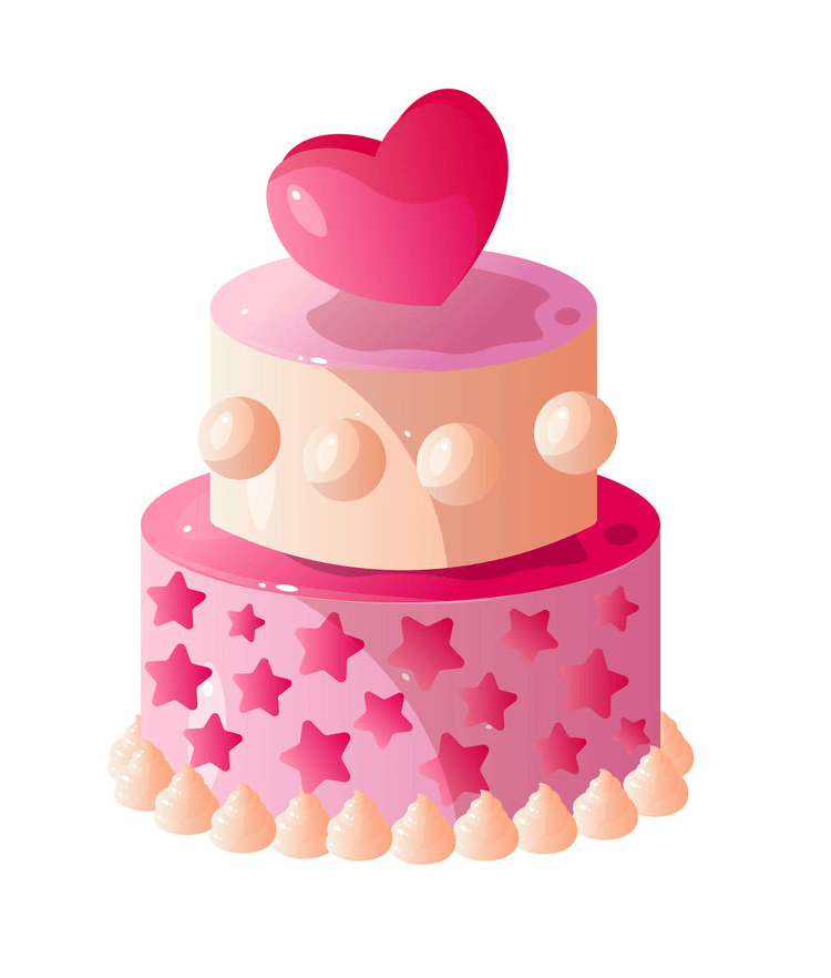 Lovely Birthday Cake clipart