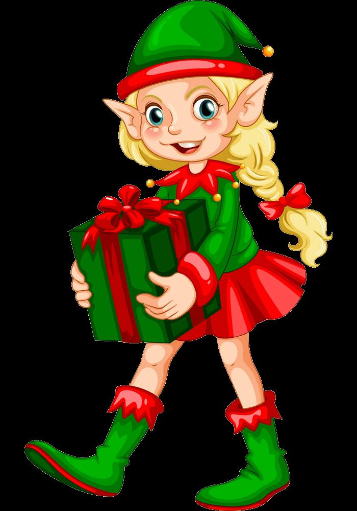 Lovely Christmas Elf clipart transparent