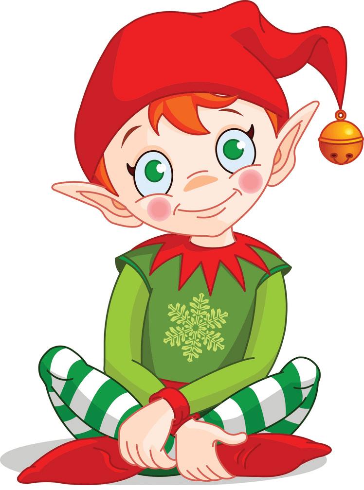 Lovely Christmas Elf clipart