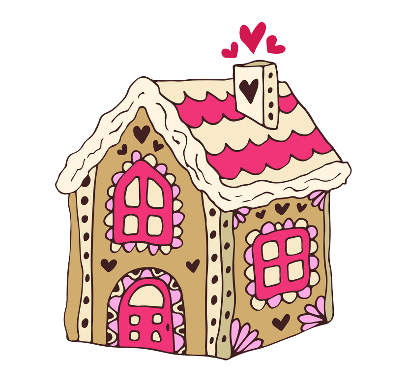 Lovely Gingerbread House clipart transparent