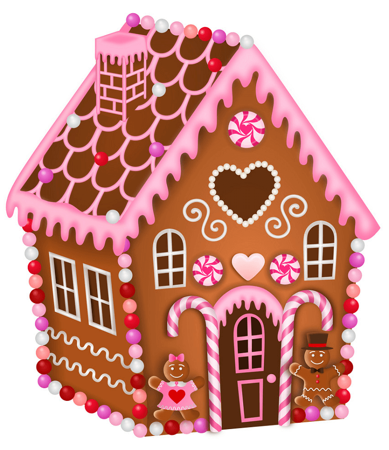 Lovely Gingerbread House clipart