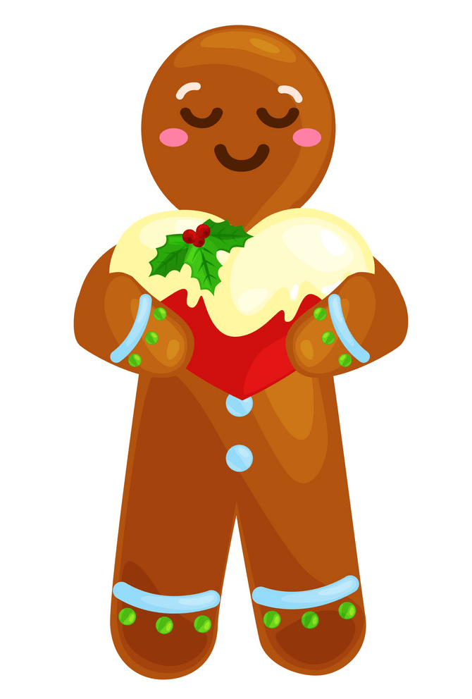 Lovely Gingerbread Man clipart
