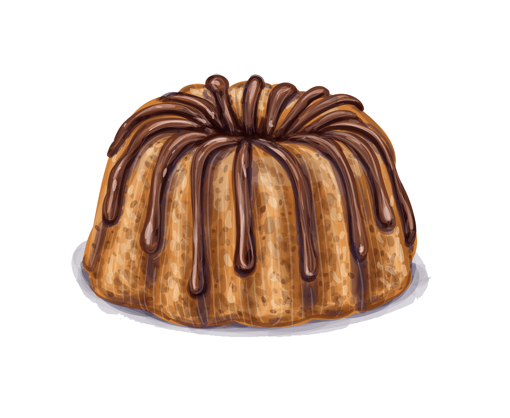 Mini Bundt Cake clipart transparent