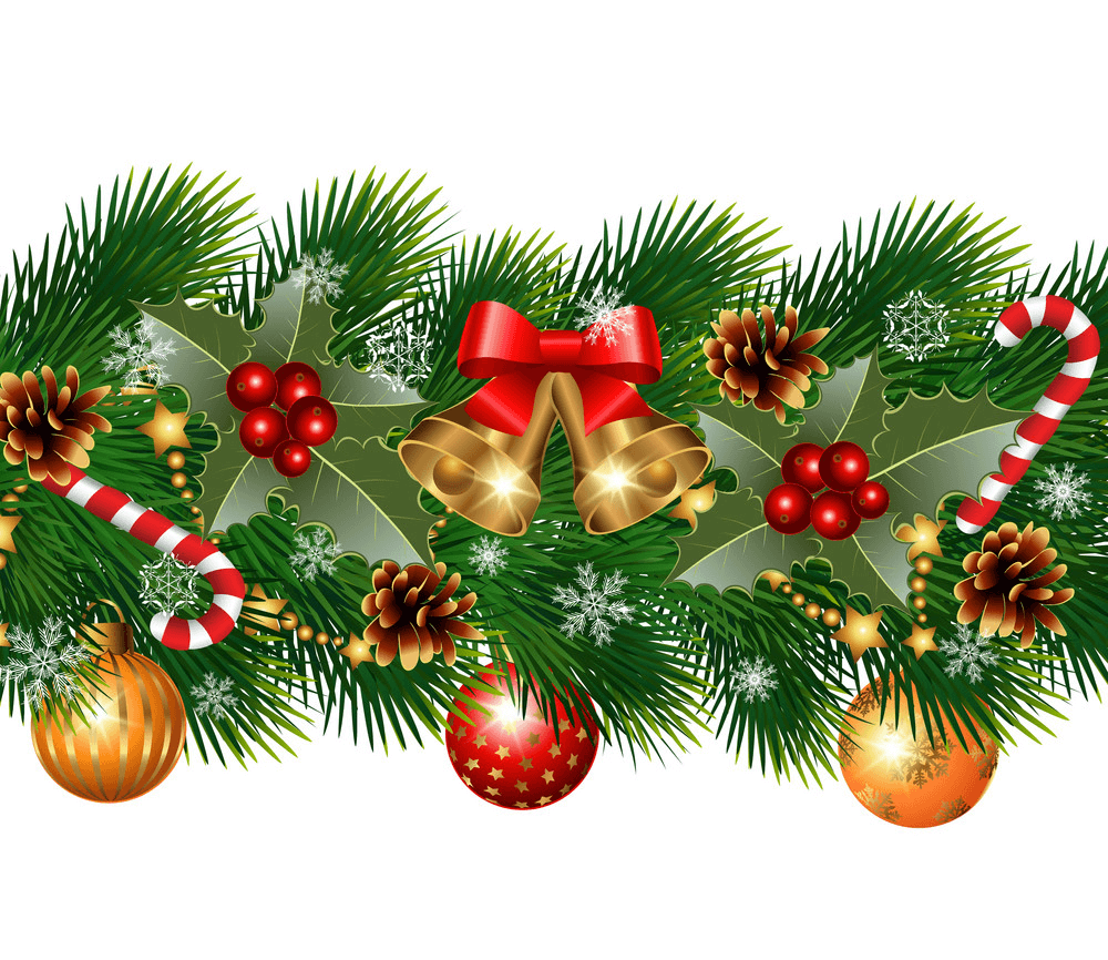 Nice Christmas Garland clipart