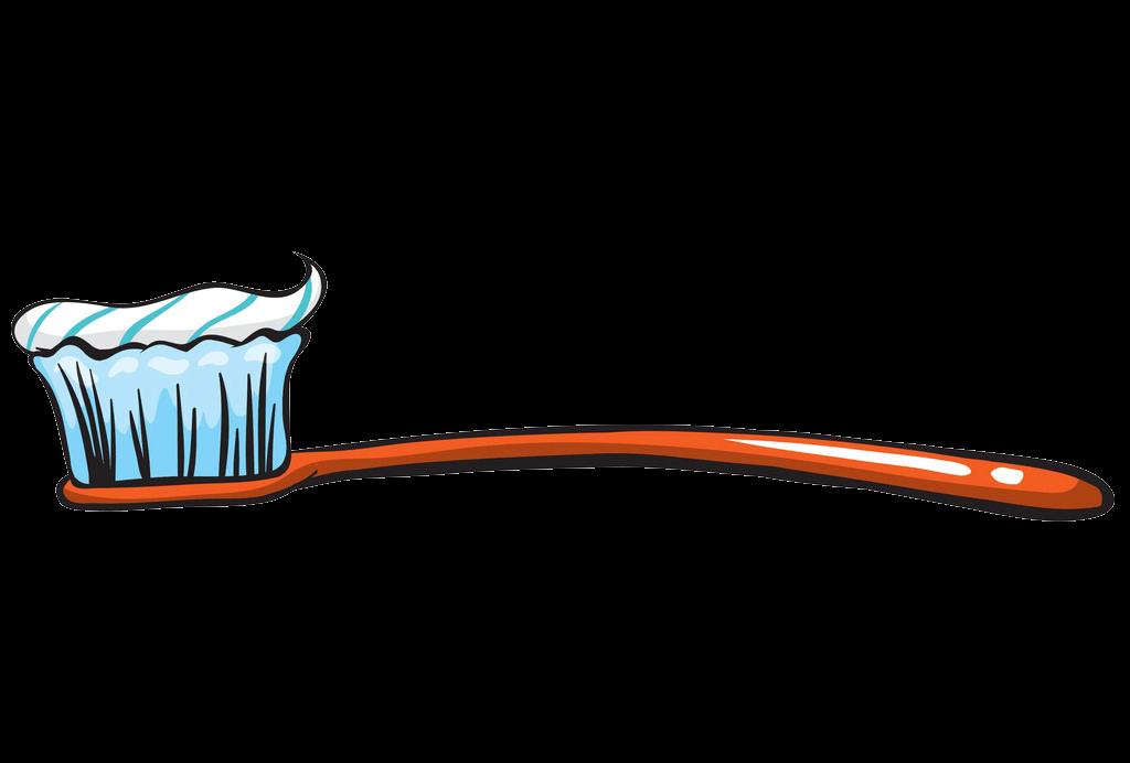 Orange Toothbrush clipart transparent