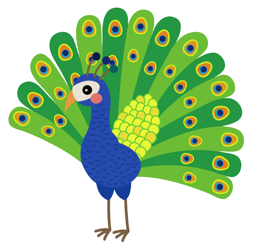 Peacock clipart transparent 2