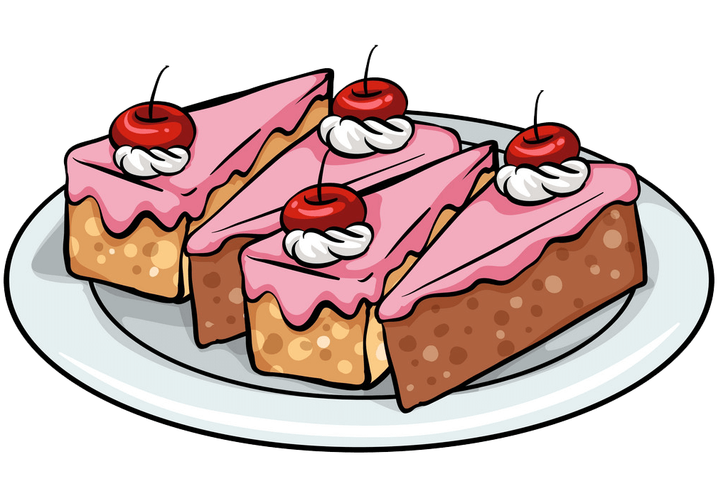 Plate Cakes clipart transparent